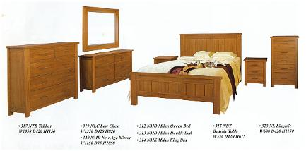 hardwood bedroom furniture milan | ausmart online | nunawading, melbourne