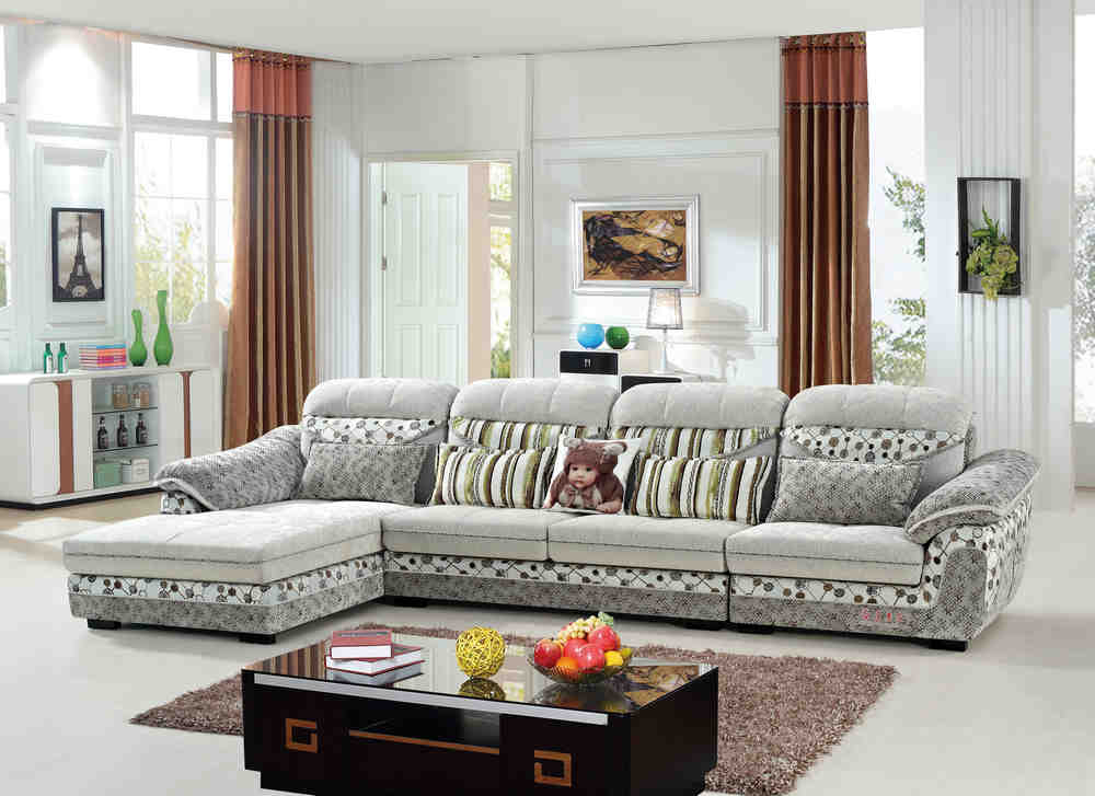 9210 L shape fabric lounge