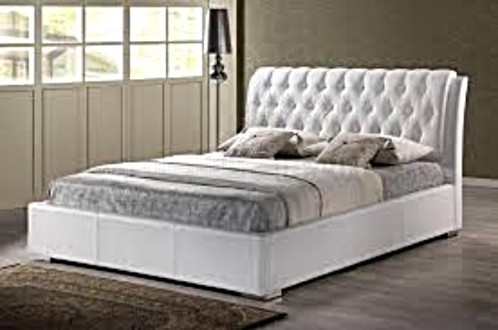 white leather beds | ausmart online | nunawading, melbourne