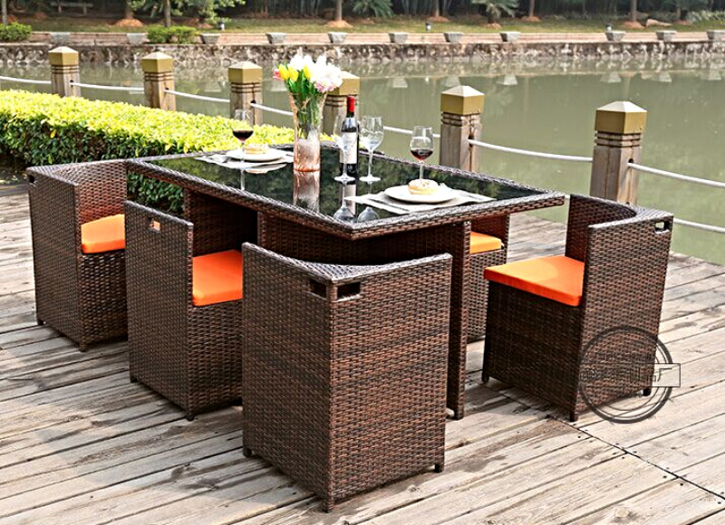 rattan outdoor furniture ty5845 7 pieces dining set melbourne