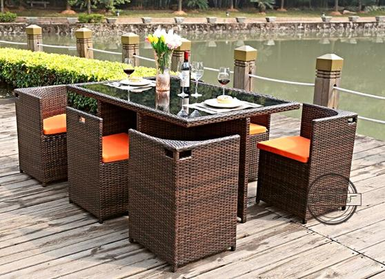 rattan outdoor furniture TY5845 7 pieces dining set | ausmart online | melbourne