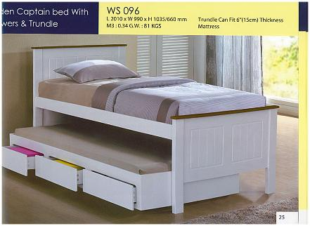 white beds with trundle | ausmart online | nunawading, melbourne